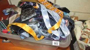 A large quantity of neck ties.