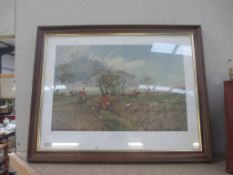 Alimited edition print 72 of 250 The Burton Hunt by John King 66 x 52 cm