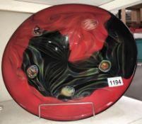 A large art glass bowl