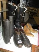 A pair of riding boots, old shoes etc.
