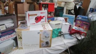 A mixed lot of household items including Lakeland shoe store, mostly boxed.