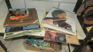A mixed lot of LP records including classical. (Collect only).