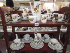 A retro Chartwell coffee set and a Barratts of Staffordshire 'Sandlewood' tea set