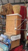 A good lot of wicker ware including a cabinet with drawer.