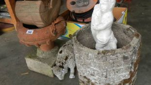 A quantity of garden pots, ornaments etc., (Collect only).