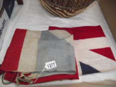 2 old Union flags (1 faded)