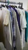 A good lot of ladies cardigans and jumpers etc., including button up / zip up/ pullovers etc.