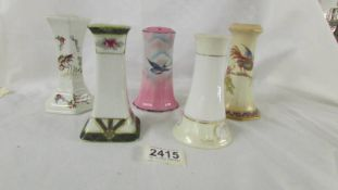 5 hat pin stands including a Noritake example.