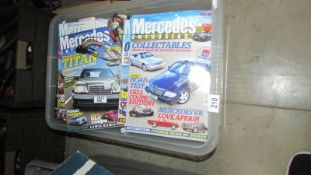 A box of Mercedes Enthusiast periodicals.