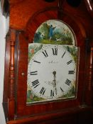 A Grandfather clock, W Farnhill, Rotherham. (Collect only).