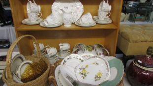 A good mixture of bone china dinner and tea ware