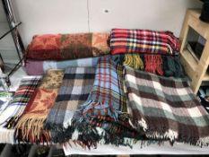A quantity of picnic blankets etc.