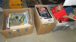 Three boxes of motor cycle related periodicals.