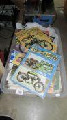 A box of Classic Bike periodicals.