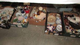 Five boxes of miscellaneous ceramics,