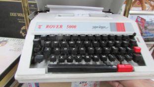 A vintage Rover 5000 portable typewriter,