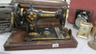 A Jones electric sewing machine,