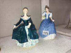 A Royal Doulton figure 'Helen HN3601' & Royal Doulton figure 'Janine HN2461'