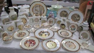 In excess of 40 pieces of Chokin gold edged porcelain.