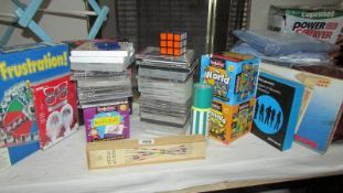 A mixed lot of games, CD's, computer games etc.