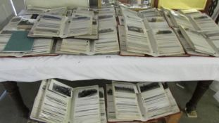 A lifetime collection of approximately 5000 postcards, relating to railways in 17 albums.