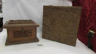 Two good quality early 20th century carved wood Chinese boxes, both in good condition.