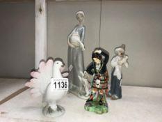 A vintage Carl Sheidig 'fantail dove',
