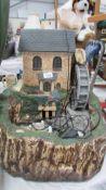 A water mill garden feature.