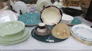 A mixed lot of pottery and china,
