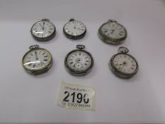 Six assorted gents and ladies pocket watches for spare or repair.