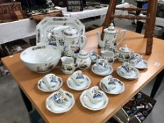 28 pieces of wedgwood Lotus dinner ware