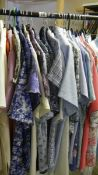 In excess of 30 retro/vintage lightweight women's shirts/blouses.