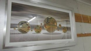 A framed and glazed art design picture by Hillert 'Golden Sphere',