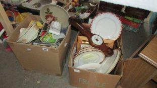 2 boxes of miscellaneous including photo frames, ceramics etc.