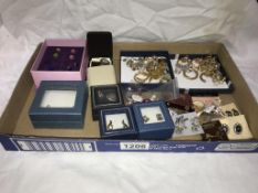 A good assortment of earrings (over 40 pairs)