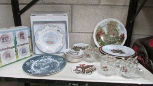 A mixed lot of china and glass ware. (Collect only).