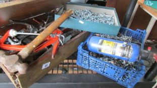 A good lot of workshop consumables and a case of tools.
