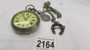 A Waltham pocket watch on chain, in working order.