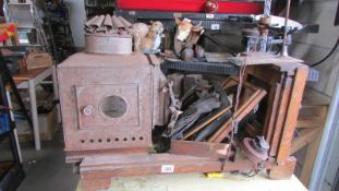 A large magic lantern projector for restoration.