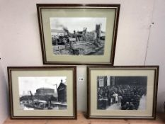 3 framed & glazed rare & early pictures/photographs of Lincoln/Lincolnshire (50cm x 40cm)