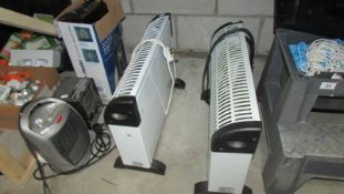 Two convector heaters and three others.