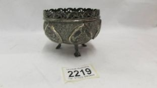An Indian silver bowl decorated with Indian Dieties.
