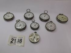 Eight ladies fob watches for spare or repair.