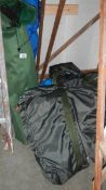 A quantity of bagged camping items. (collect only).