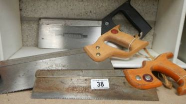 A quantity of hand saws (collect only)