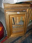 A good lot of gilt picture frames.