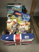 A quantity of new Disney Planes 2 figures & other new items, a quantity of mixed books including D.