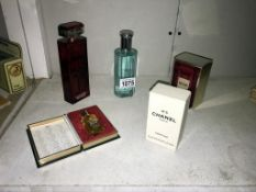 A quantity of perfume including vintage 6ml Chanel No 5 purse parfum in box (French box) full,