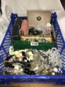 A large box of mixed costume jewellery