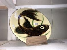 A 1940's/50's Spanish ceramic pottery charger by Puigdemont ****Condition report****